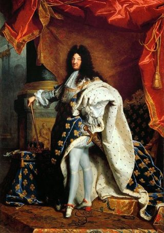 Luigi XIV ritratto da Hyacinthe Rigaud